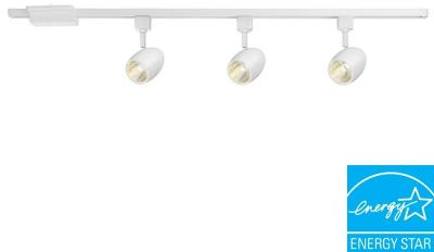 Hampton Bay 39.37 in. 3-Light White Dimmable LED Track Lighting Kit-16033KIT1-WH - The Home Depot