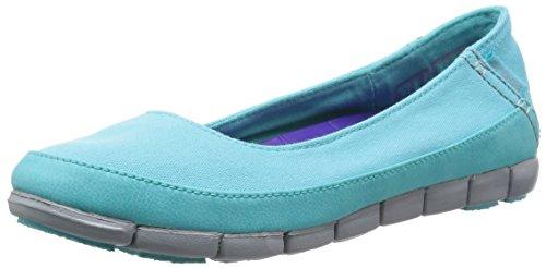 W Crocs Ballerine Strech Flat Donna Sole Azzurro DTC qqHOt