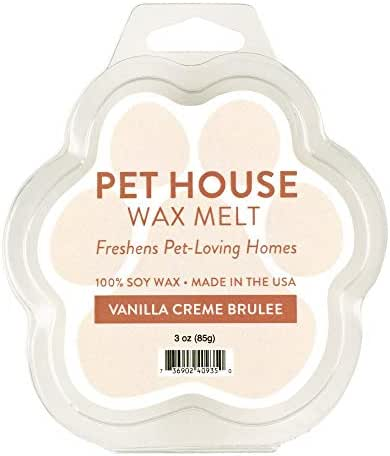 One Fur All 100% Natural Soy Wax Melts in 20+ Fragrances, Pack of 2 by Pet House - Long Lasting Pet Odor Eliminating Wax Melts, Non-Toxic Pet Wax Melts, Made in USA (Vanilla Creme Brulee)