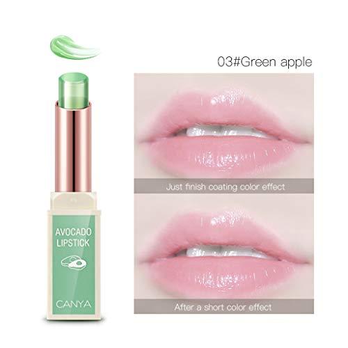 Girls Lips Lipstick Cimaybo, Jelly Transparent Fruit Bálsamo para Labios Stick Cambio de Temperatura Color Crema hidratante...