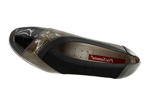 amples confort semelle chaussure 5408 comfortables casual en femme Chaussure Gris cuir Piesanto F6HvTq
