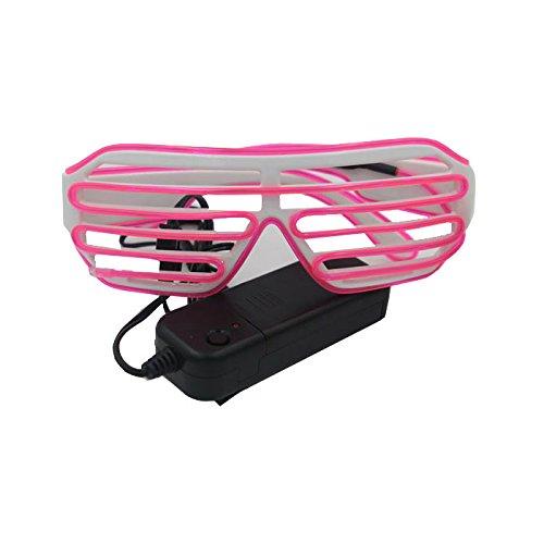 Ake EL Wire Glasses Shutter LED Fluorescent Flash Sunglasses Eyeglasses for Ballroom Bar Party Dancing - Sunglasses Guangzhou