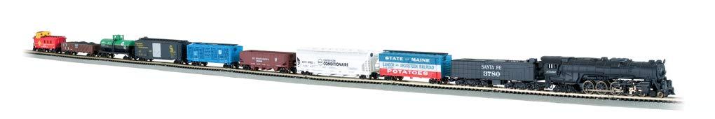 Bachmann Trains - Empire Builder Ready To Run 68 Piece Electric Train Set - N Scale