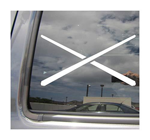 Right Now Decals - Crossing Cue Sticks - Billiard Pool Snooker - Cars Trucks Moped Helmet Hard Hat Auto Automotive Craft Laptop Vinyl Decal Window Wall Sticker 04164