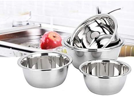 impastare Massa ciotole di Fonte del portaoggetti 18cm acciaio INOX kentop 2/PCS ciotola in acciaio inox per miscelazione cucinare lavare Frutta