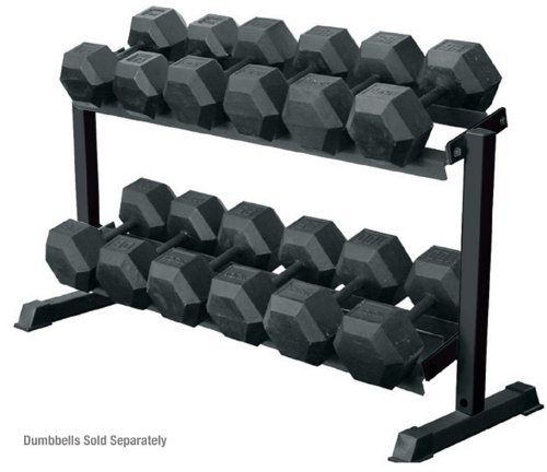 York 2 - Tier Pro Hex Dumbbell Rack by Ironcompany.com