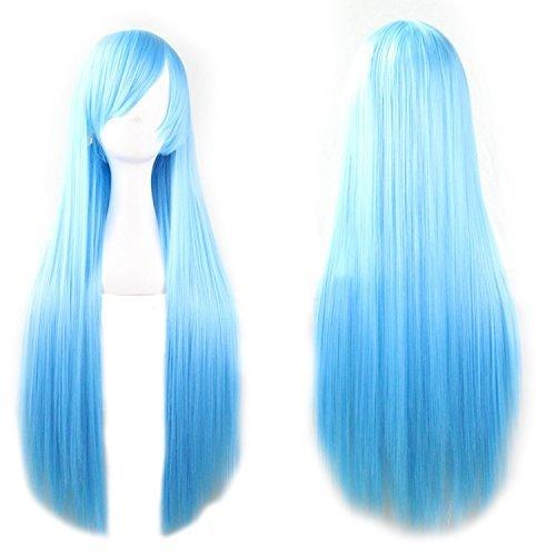 long blue wig - 5