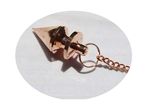 Copper Pendulum - mysticalindia Brass Cone Metal Healing Pendulum Hat, Copper Plated Reiki Healing Dowsing.