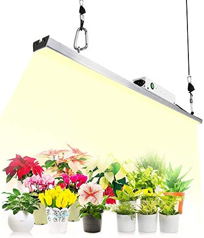 Full Spectrum LED Grow Lights for Indoor Plants, CANAGROW 300W Samsung LM301B LED Grow Light Bar, Sunlike 3500K Plant Growing Light with Mean Well Power Supply, Designed for Special Plants