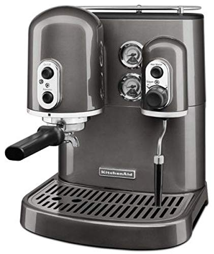KitchenAid Pro Line Series Espresso Maker with Dual Independent Boilers, Medallion Silver (Kitchenaid Espresso Machine)