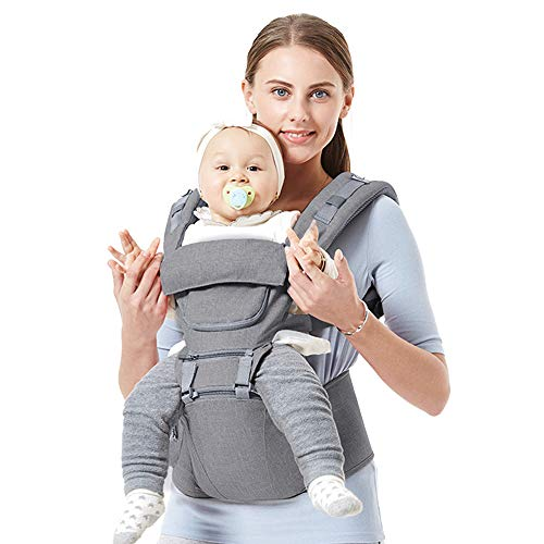 Baby Backpack Carriers Front and Back for Newborn to Toddler with Hip Seat, Feemom Forward Facing Baby Kangaroo Carrier…