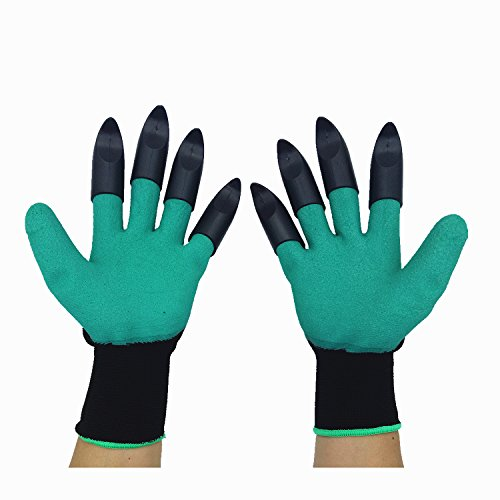 Garden Genie Gloves, Inf-way Both Hand Claws Gardening Gloves, Quick & Easy to Dig & Plant, Safe for Rose Pruning - As Seen On TV (Right + Left Claw 1 pair)