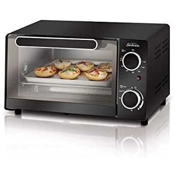 Amazon Com Sunbeam Multipurpose 4 Slice Black Toaster