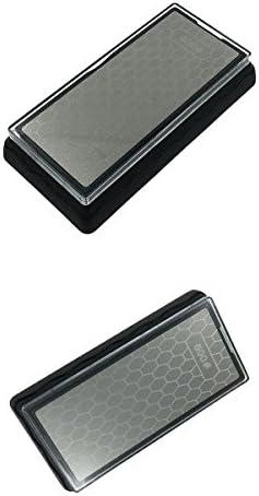 ダイヤモンド400/1000#600/1200#グリット両面研磨キッチンシャープナー