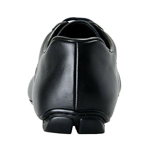 f8a238800c4a ... Prada Hommes En Cuir Noir Sneaker De Mode Chaussures Nous 9 Il 8 Eu 42  ...