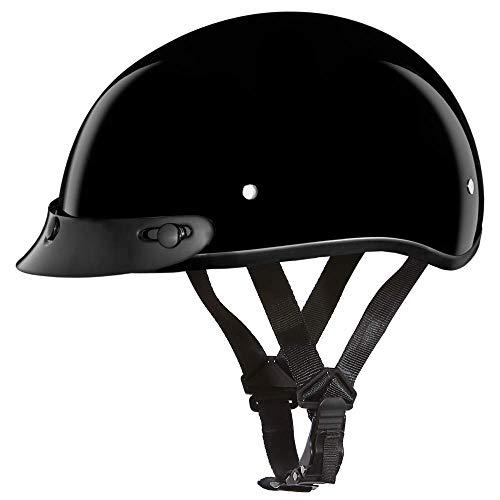 D.O.T. Daytona Skull Cap Jr.- Hi-Gloss Black- Daytona Helmets
