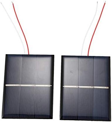 Gaetooely 2 Stück 1,5V 400Ma 80X60Mm Micro- Power Solarzellen Für Sonnenkollektoren -DIY Projekte -Spielzeug -Ladeger?t