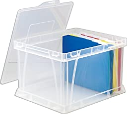 Storex Storage and Filing Cube, 17.25 x 14.25 x 10.5 Inches, Clear, Case of 3 (STX62006U03C)