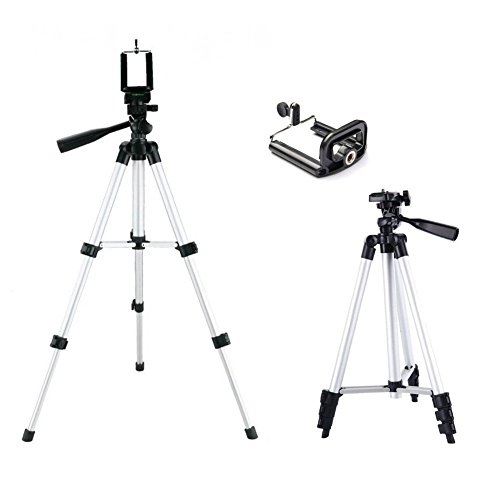 Morjava 3110 Lightweight Tripod with Adjustable-height legs Free Phone Holder with Bag