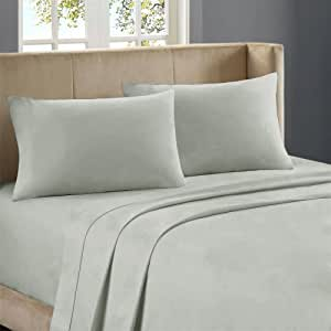 Nile Bedding Extra Sumptuous 100 Percent Egyptian Cotton Duvet Set with 2 Pillowcases 500 TC Solid (Cal-Queen , Silver Grey)