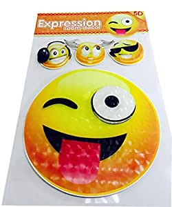 5D Expression Room Decor Removable Self-adhesive Emoji Stickers [HD-STK001-1R]