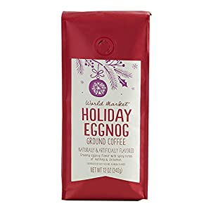 Well-Being-Matters 41-UufEHztL._SS300_ World Market Holiday Limited Edition Ground Coffee (Holiday Eggnog, 1 Pack)