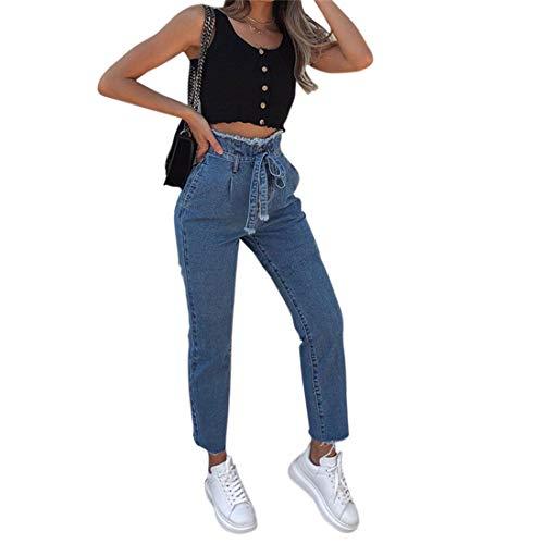 Bleu Slim En Haute Loozykit Causal Femme Ceinture Avec Printemps Pour Clair Push Pantalon Jeans Pants Collant Automne Trousers Up Fit Boyfriend Skinny Vintage Basique Denim Taille S65r5x0wfq