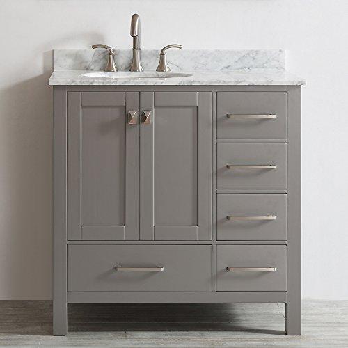 Vinnova 723036 gr ca nm gela 36 single vanity in grey - White bathroom vanity without top ...