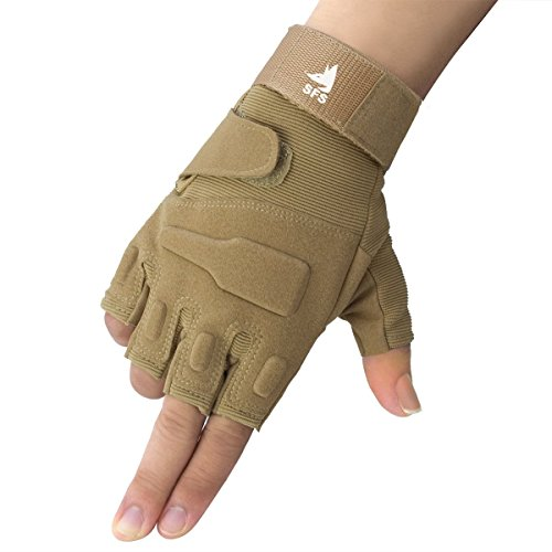 SFS Tactical Shooting Training Gloves Half-finger Airsoft Paintball Hunting Riding Cycling Motorcycle Gloves