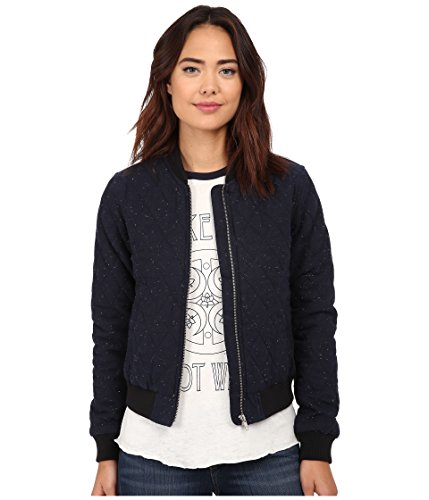 (Obey Women's Rumson Jacket, Heather Navy, SM)