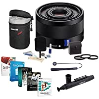 Sony Sonnar T FE 35mm F2.8 ZA E-mount NEX Camera Lens Bundle with 49mm Filters & Pro Software