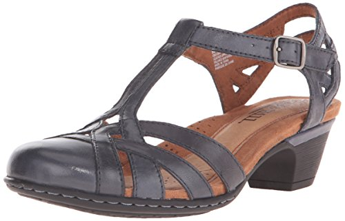 Rockport Cobb Hill Women's Aubrey-CH Heeled Sandal, Navy, 8 W US