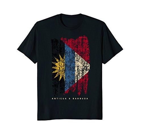 Vintage Antigua & Barbuda T-shirt Retro Antiguan Flag Shirt from Antigua & Barbuda National Sports Team Shirts Co.