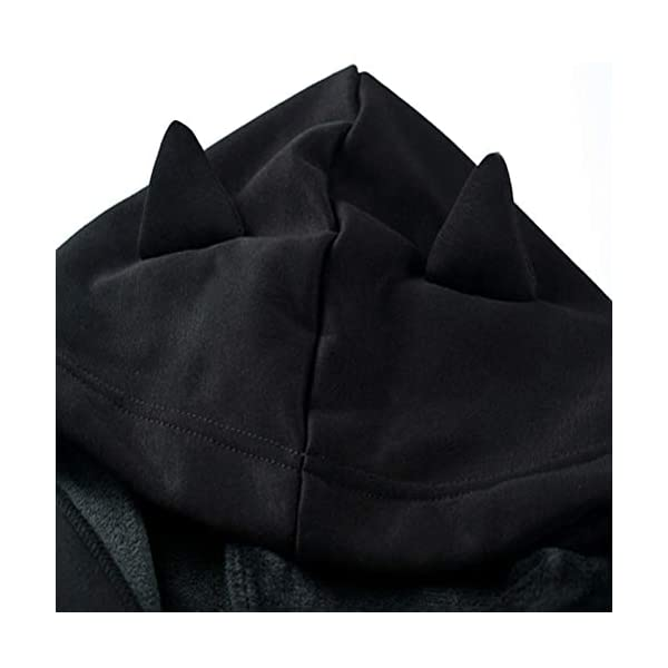 Women Hoodies Long Sleeve Cute Ear Cat Off Shoulder Crop Top Pullover Sweatshirt