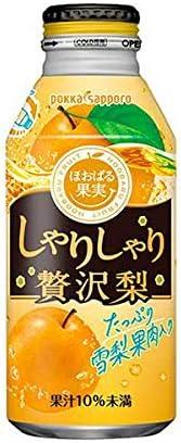 ポッカサッポロ しゃりしゃり贅沢梨 [ボトル缶] 400g x 48本 [2ケース販売][ポッカサッポロ/フルーツJB56]