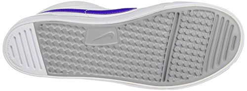 Nike Unisex-Kinder Capri 3 Mid LTR Tennisschuhe Mehrfarbig (White/Hyper Grape-Wolf Grey 105)