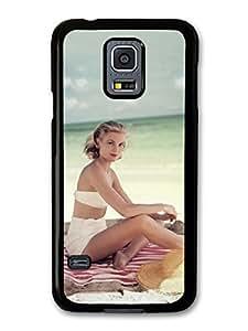 Grace Kelly Posing Beach Actress Princess carcasa de Samsung Galaxy S5 mini