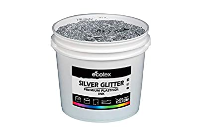 Ecotex Silver Glitter NP Plastisol Ink for Screen Printing - All Sizes
