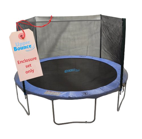 Upper Bounce 4 Pole Trampoline Enclosure Set to fit 12-Feet Trampoline Frames with set of 2 or 4 W-Shaped Legs (Trampoline Not Included) ()
