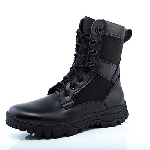 Amortiguadoras Combate Qikai Ultraligeras Verano Botas Genuinas De Para Tácticas Fuerzas Militares Hombre Black Especiales vq7wfpq