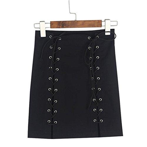Jupe Femmes Bandage Bodycon Jupe Preppy Dcontracte Noir Mini Club Size Up Lacet S Vovotrade Party 1WvnRxav