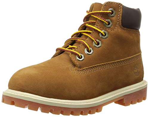 Timberland 6 Inch Classic Premium WP Waterproof Boot (Toddler/Little Kid/Big Kid),Rust Nubuck/Honey,7 M US Big Kid ()