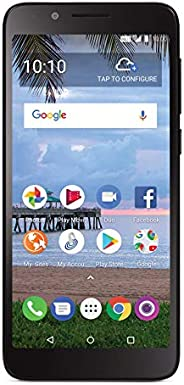 Total Wireless Carrier-Locked TCL LX 4G LTE Prepaid Smartphone - Black - 16GB - Sim Card Included - CDMA