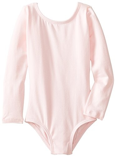 Clementine Little Girls' Long Sleeve Leotard, Light Pink, 3-4