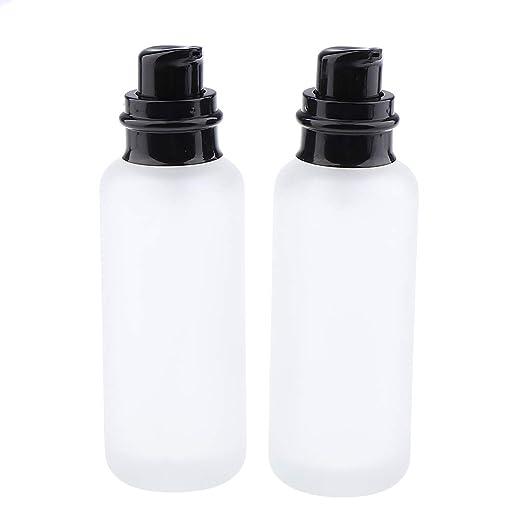 Compra CUTICATE 2X Botella de Vidrio Vacía Envase de Loción Ideal ...