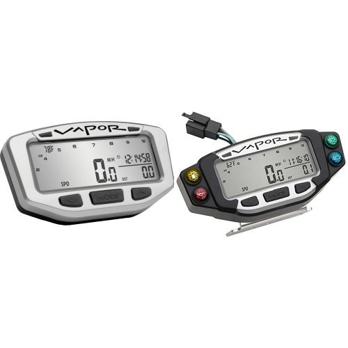 Vector Speedometer - Trail Tech 75-2045 Silver Vapor Computer and 022-PDA Vapor/Vector/Striker Indicator Dashboard Bundle