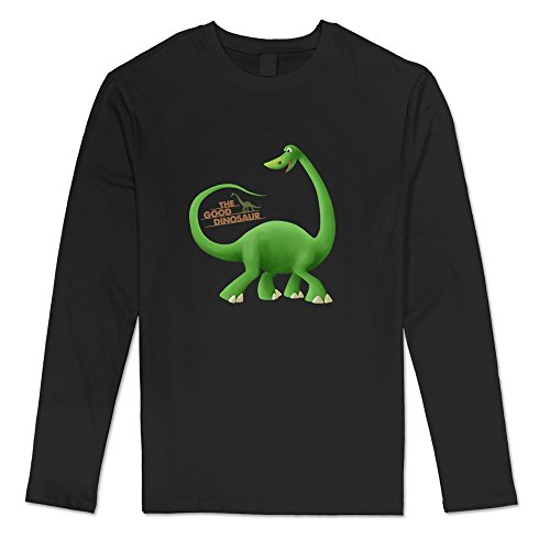 (Men's The Good Dinosaur Cartoon Movie Long Sleeve Tshirt Size S)