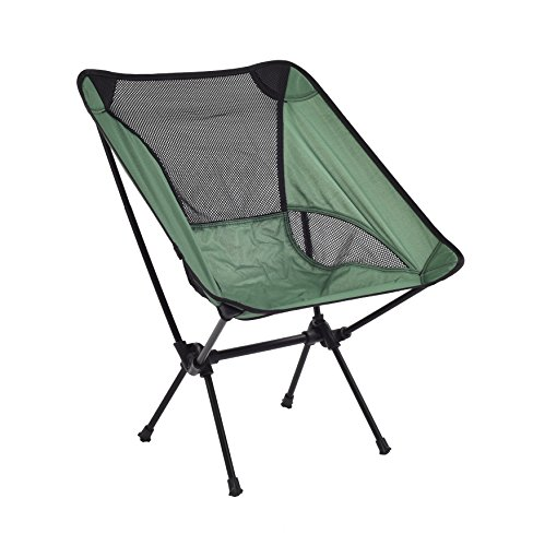 Color Zebra Compact Ultralight Portable Folding Camping Backpacking Chairs with Carry Bag for Outdoor Camp, Travel, Beach, Picnic, Festival, Hiking, Lightweight Backpacking (Green) (Folding Zebra Chair)