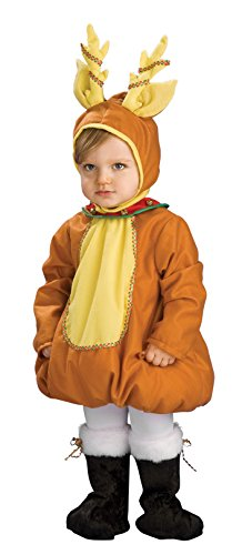 Snowman Toddler Costumes (Rubie's Costume Festive Reindeer Child Costume, One Color, Toddler)