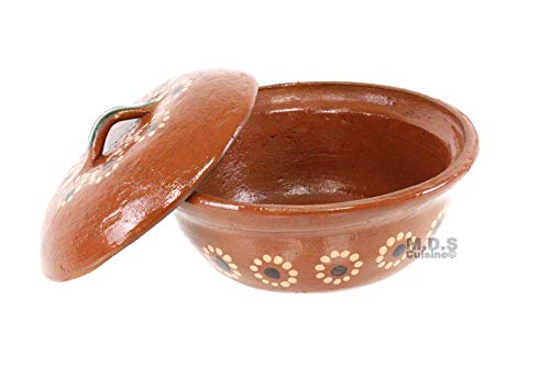 - Salsero de Barro with Lid & Traditional Salsa Bowl Chip & Dip Molcajete Sauce Mexican
